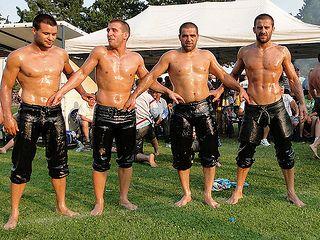 Pin on XY - Turkish Oil Wrestlers