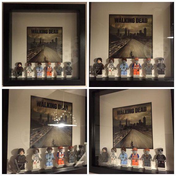 The Walking Dead Minifigure Frame Mum Gift Geek By Figurethatbox
