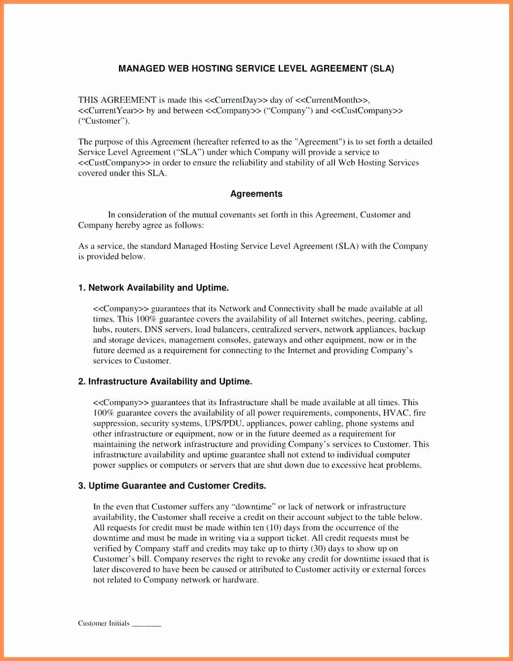 Disaster Recovery Service Level Agreement Template In 2020