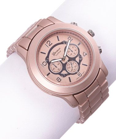 Another great find on #zulily! Rose Gold Chronograph/Bracelet Watch #zulilyfinds