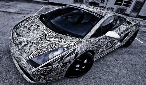 Sharpie Lamborghini Gallardo By Jona Cerwinske (aka The Sharpie Car)