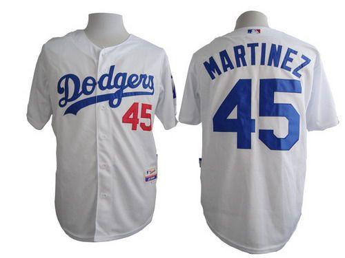 948f99a607e Men's Los Angeles Dodgers #45 Pedro Martinez White Jersey | MLB ...