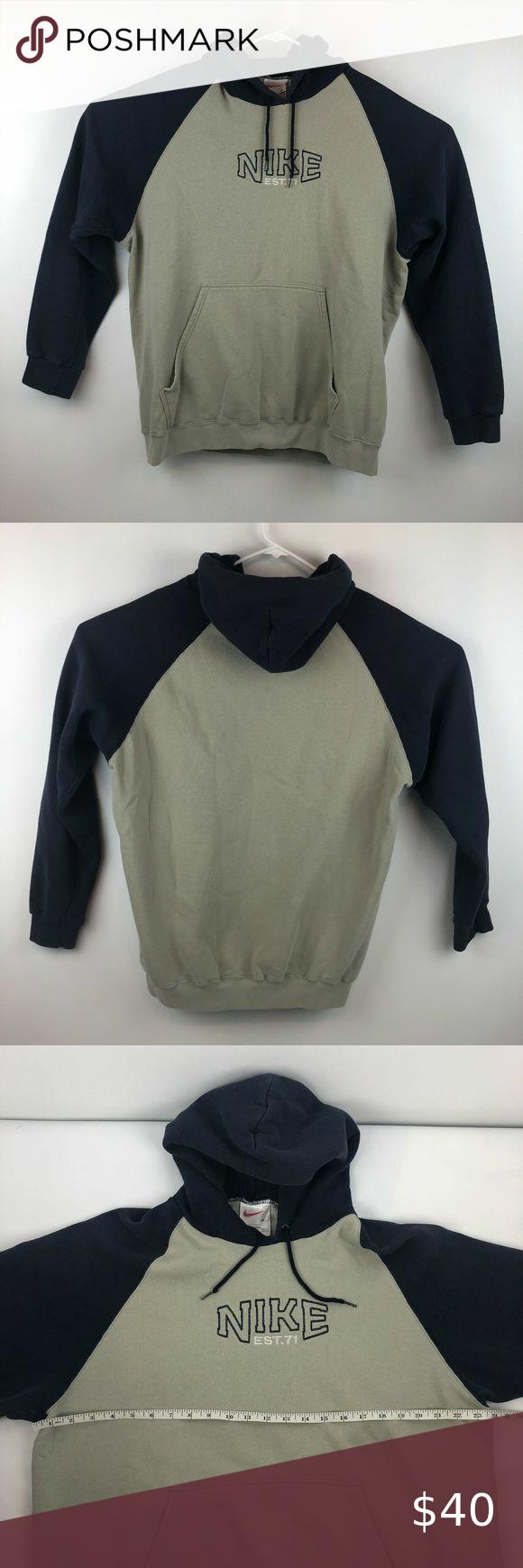 Vtg 90 S Nike White Tag Spell Out Hoodie Size Xl White Nikes Hoodies Sweatshirt Shirt [ 1740 x 580 Pixel ]