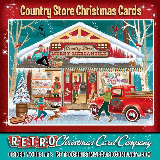 50+ original Christmas Cards from the Retro Christmas Card Company