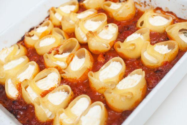fylt pasta vegansk oppskrift