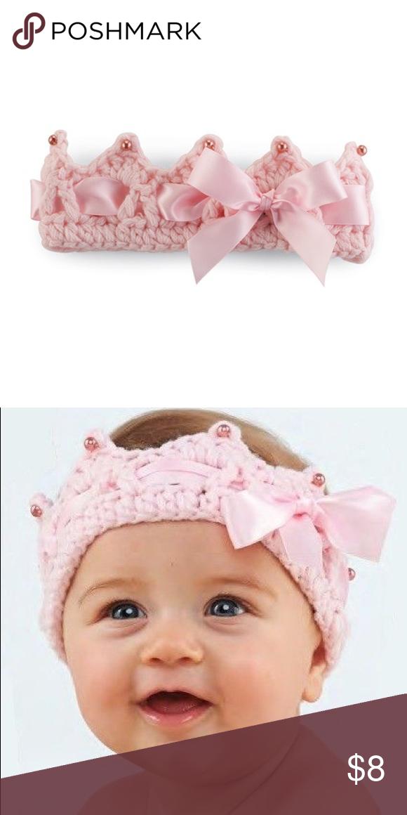 Mud Pie Princess Crown Crochet - BNWT Adorable crocheted princess crown Mud Pie Accessories Hats #crownscrocheted