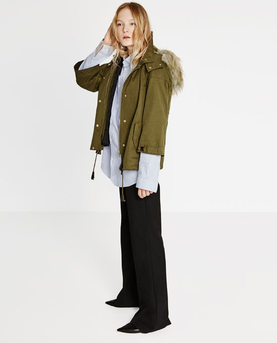 ZARA - WOMAN - SHORT PARKA | Winter is coming | Pinterest | Zara ...