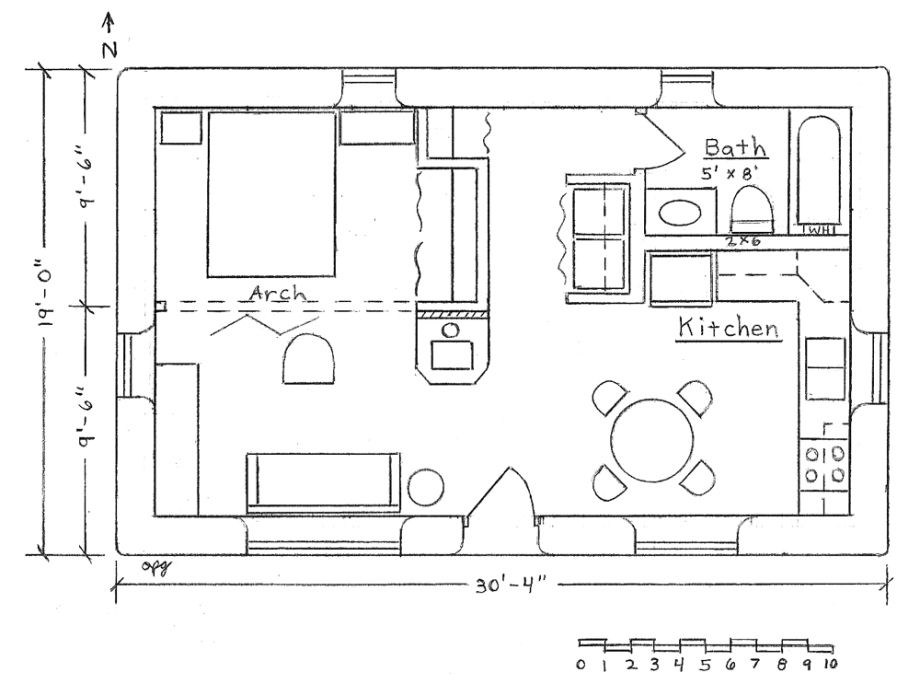 Get Free Shed Plans 20 X 20 Small House Blueprints Cabin Floor