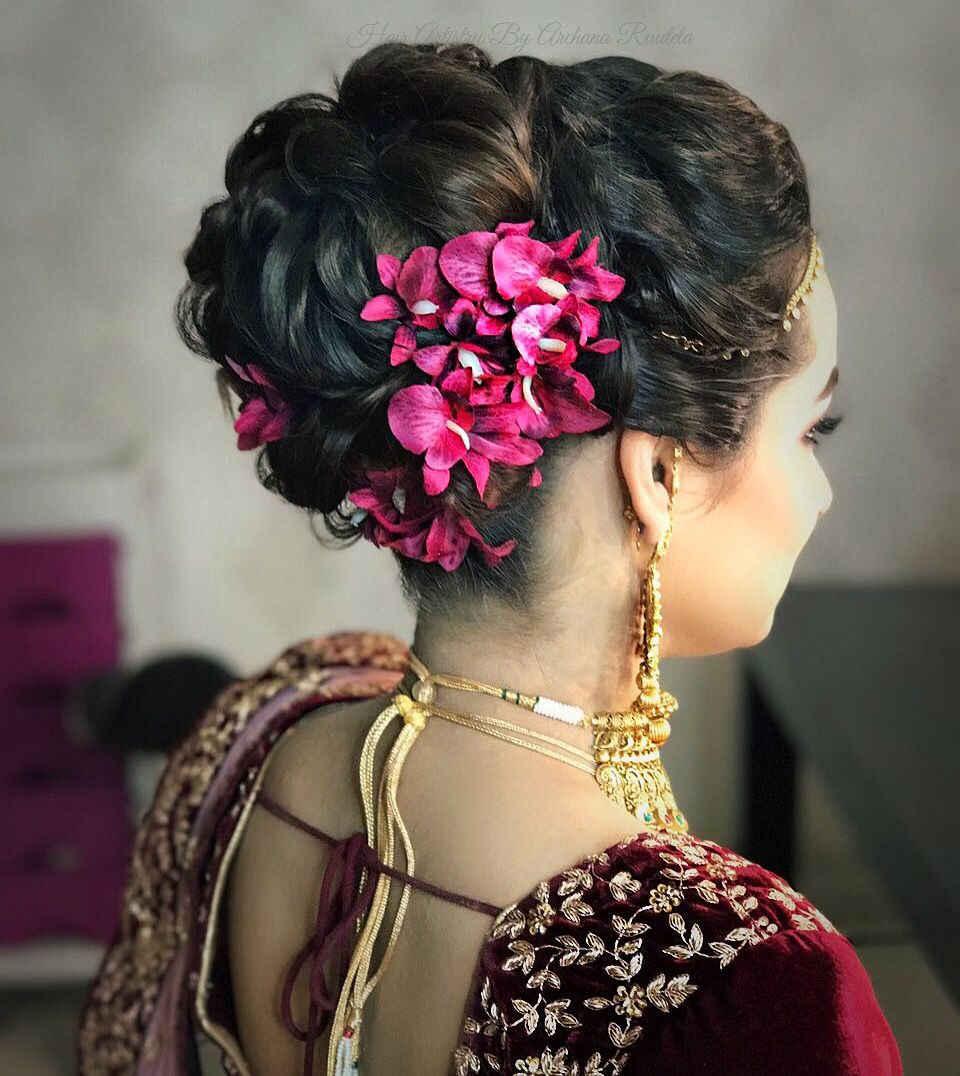 What Girls Want Bridallove Hair Artistry By Archana Rautela Hair Styles Short Wedding Hair Indian Wedding Hairstyles
