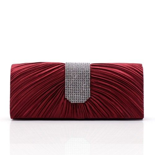 2016 Famous Designer Purses and Handbag Women Silk Satin Clutch Evening Bag for Party and Wedding - Beaded Bridal Evening Clutch