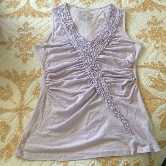 Lilac Anthro Top Soft ruffle shirt, gorgeous light lilac color Anthropologie Tops