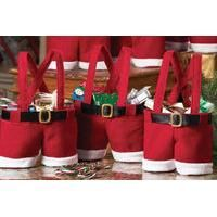 From £2.99 for one (£2.99), two (£4.99), four (£9.99),  six (£12.99) or eight (£16.99) Santa pants gift bags from Ckent Ltd