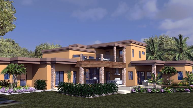 Plan 71535 Modern Style House Plan With 4 Bed 6 Bath 3
