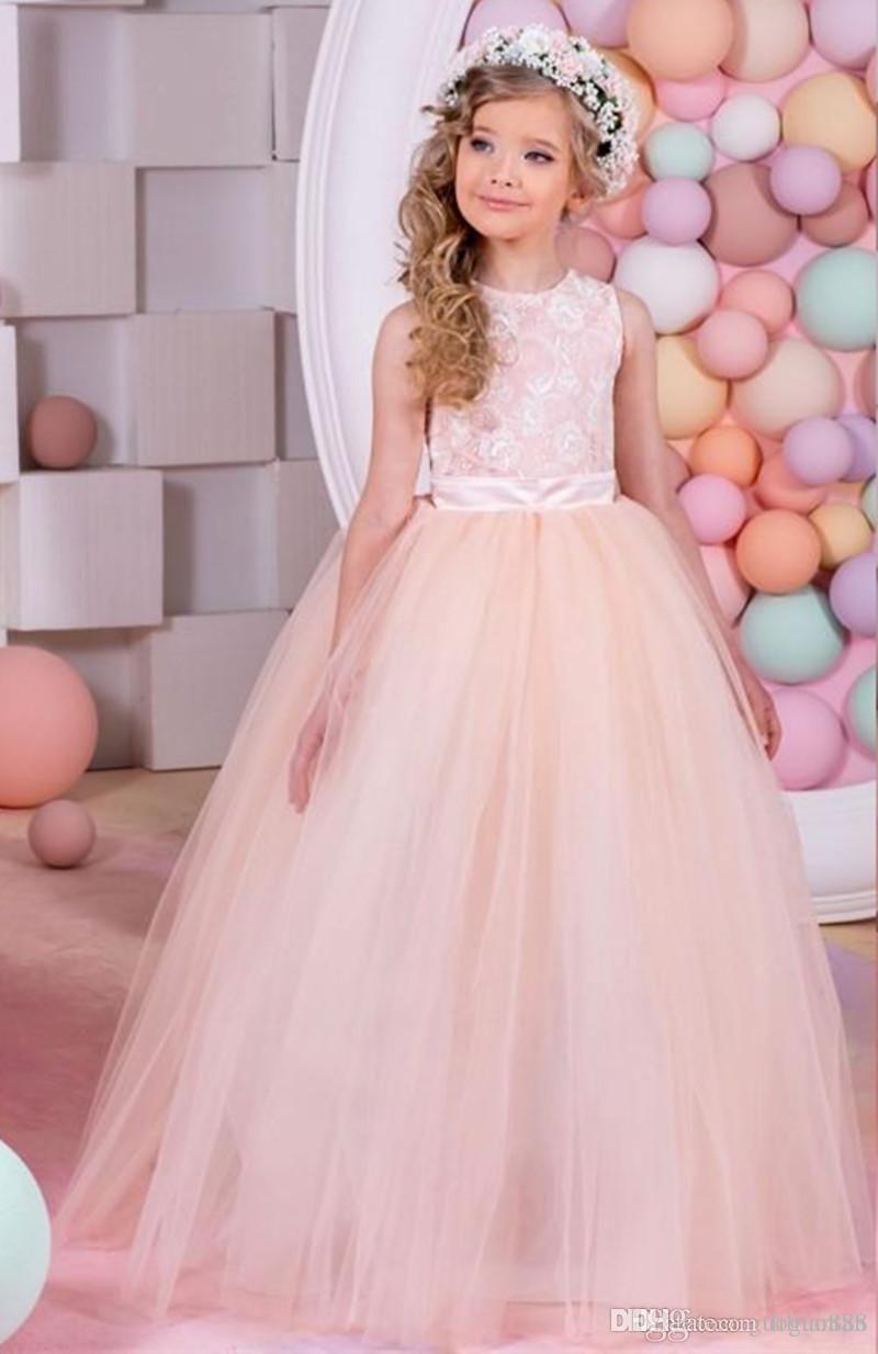 Compre Vestidos De Niña De Flor De Niña Vestidos De Encaje Vestidos ...