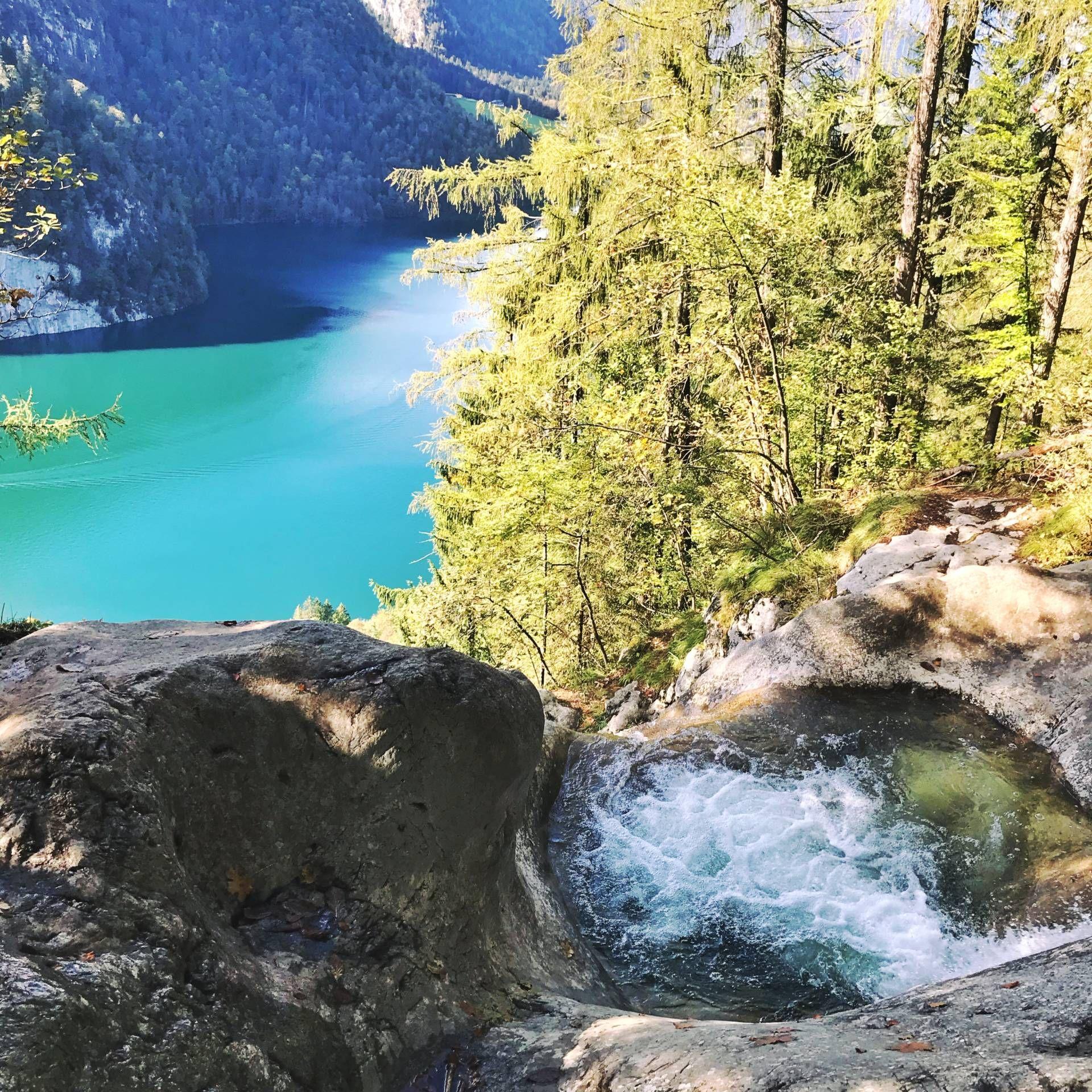 Geheimer Naturlicher Pool Am Wasserfall Am Konigssee Travel Viktoriawithk Food Reiseblog Zwischen Koblenz Und Koln Naturlicher Pool Wasserfall Urlaub Reisen