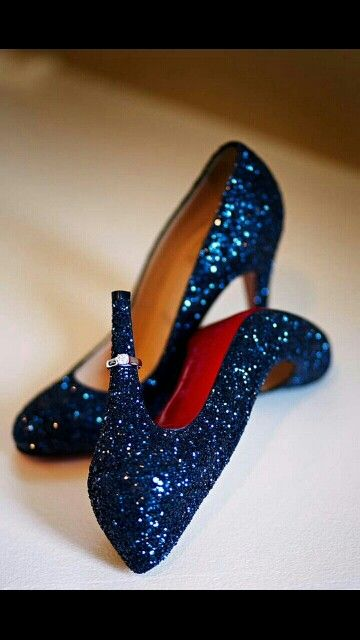 b72cb0a8b6b Blingtastic Midnight blue. These red bottom shoes twinkle like the night  sky. I think you may just feel like you are on top of the world whilst  wearing them