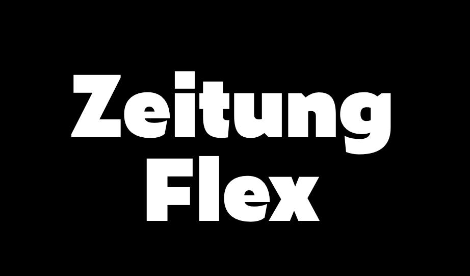 """""""Zeitung Flex"""" (2016) typeface / typographie by Underware foundry / fonderie (Netherlands, Hollande)"""