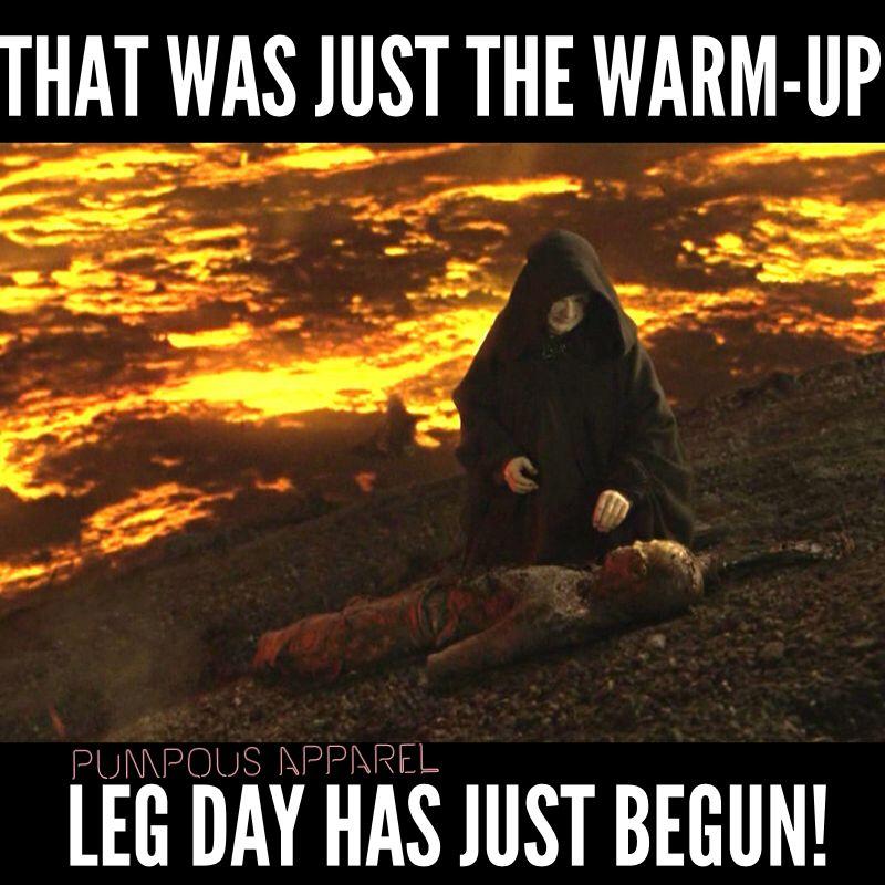 When Leg Day Hasn T Even Started Yet Star Wars Memes Motivation Gym Memes Funny Fitness Motivation Memes Workout Memes