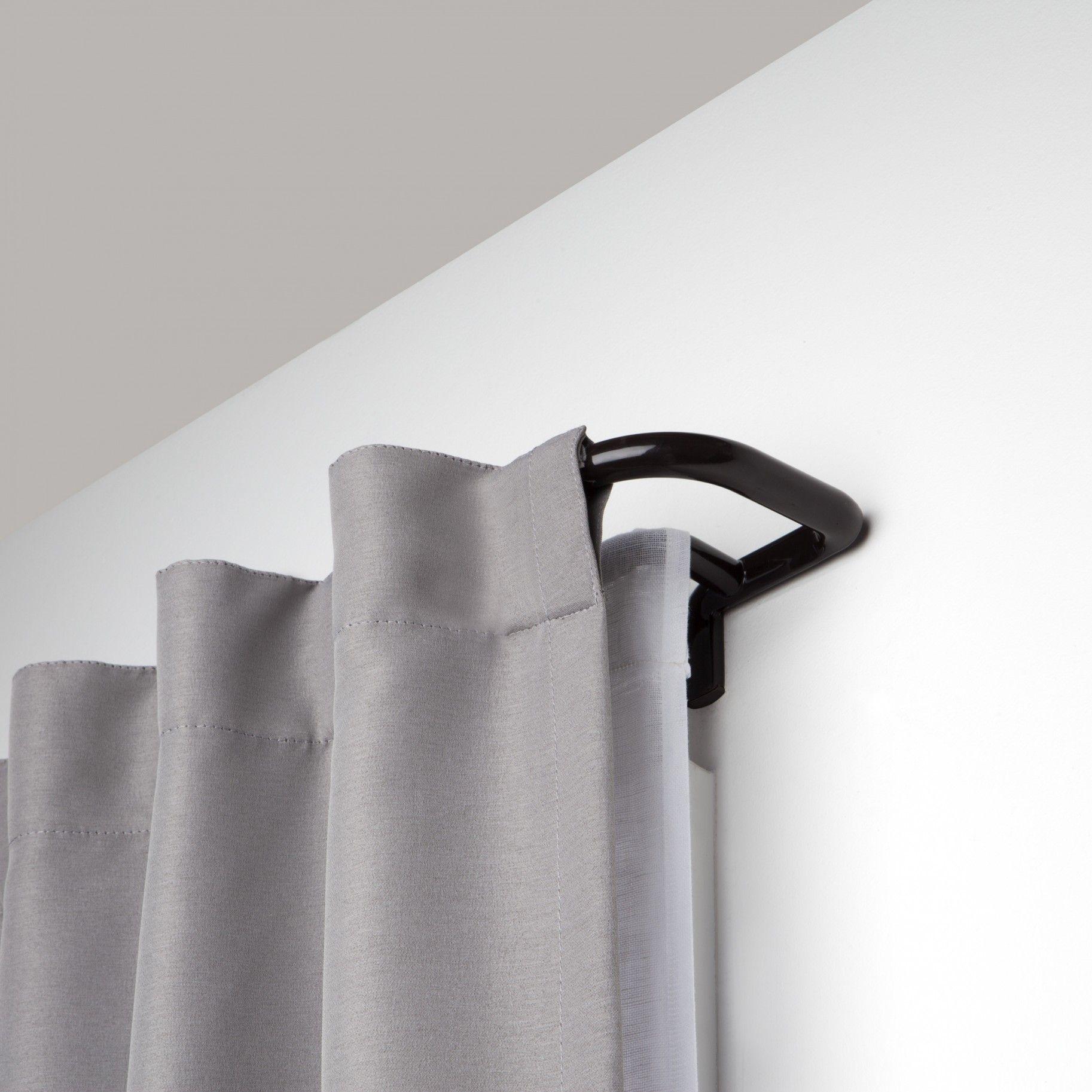 Twilight Double Curtain Rod Room Darkening Solution Dark Auburn