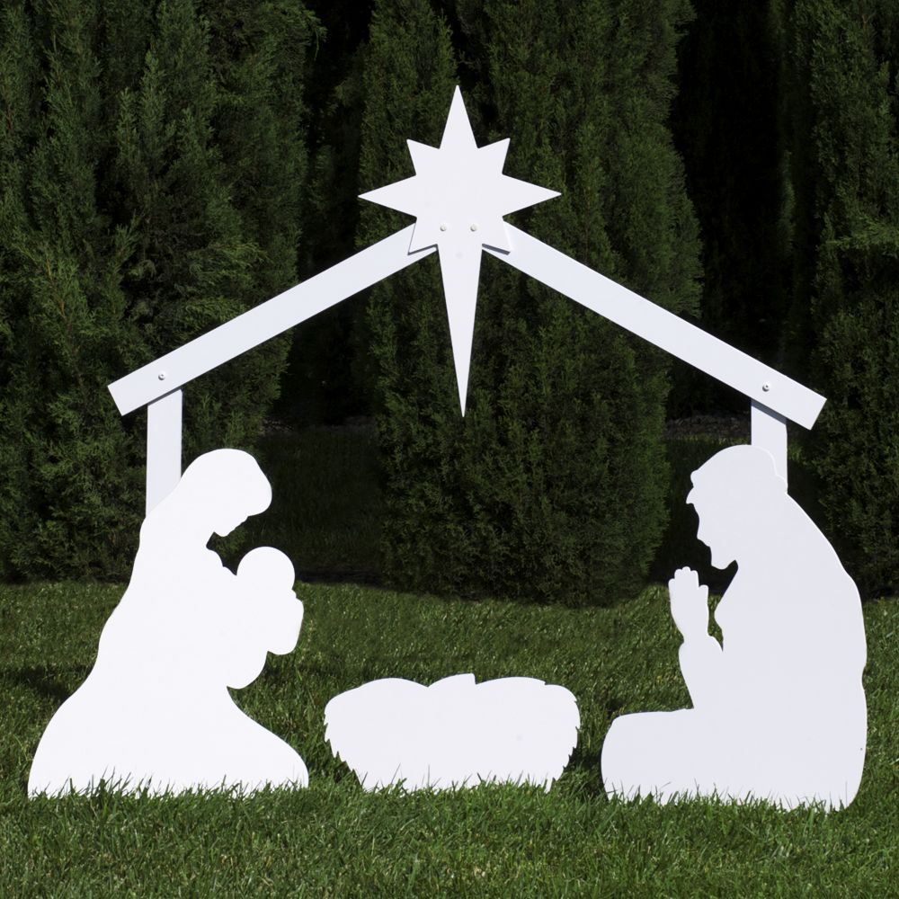 The holy family outdoor nativity sets holy family and silhouettes outdoor nativity store silhouette outdoor nativity set holy family yard scene standard size visit the image link more details aloadofball Image collections