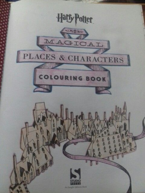 Harry Potter Magical Places And Characters Colouring Book By Literary Wisdom Completed 15 04 2017