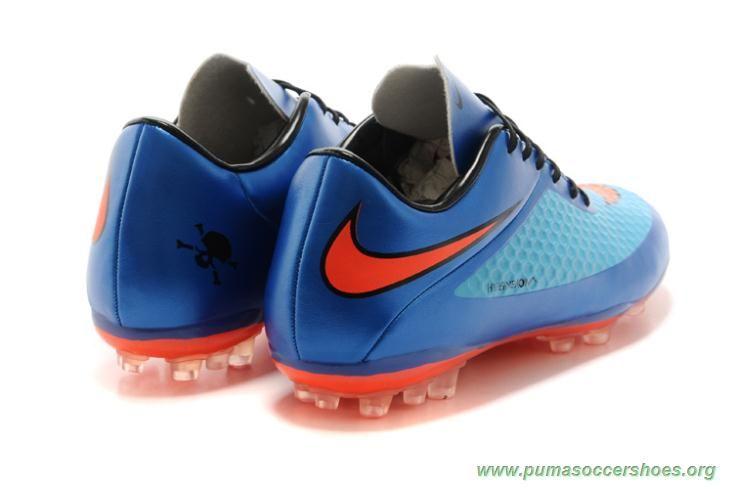 827523ba428cc NIKE HYPERVENOM Phantom BLUE/ORANGE AG Mens Indoor Soccer Shoes ...