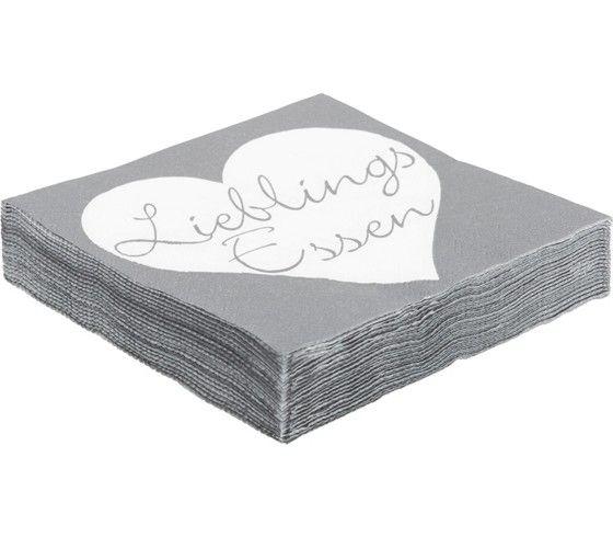 Servietten aus Papier in Grau - ein freundlicher Hingucker am Esstisch