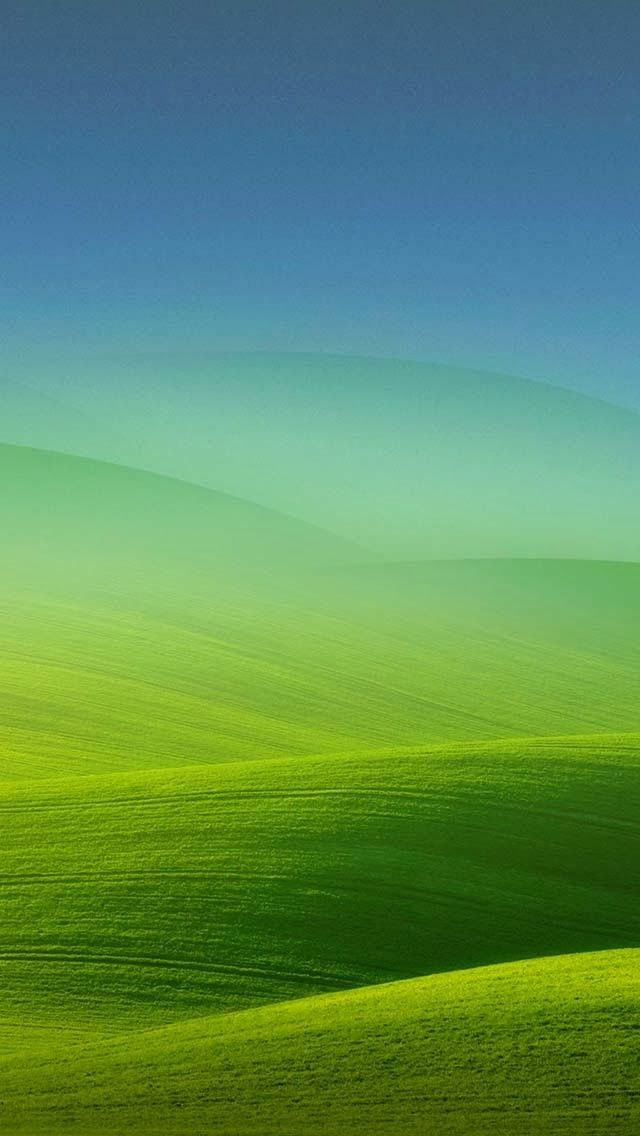 Tap And Get The Free App Minimalistic Nature Green Field Ombre Grass Hd Iphone 5 Wallpaper Beautiful Landscape Pictures Landscape Wallpaper Landscape