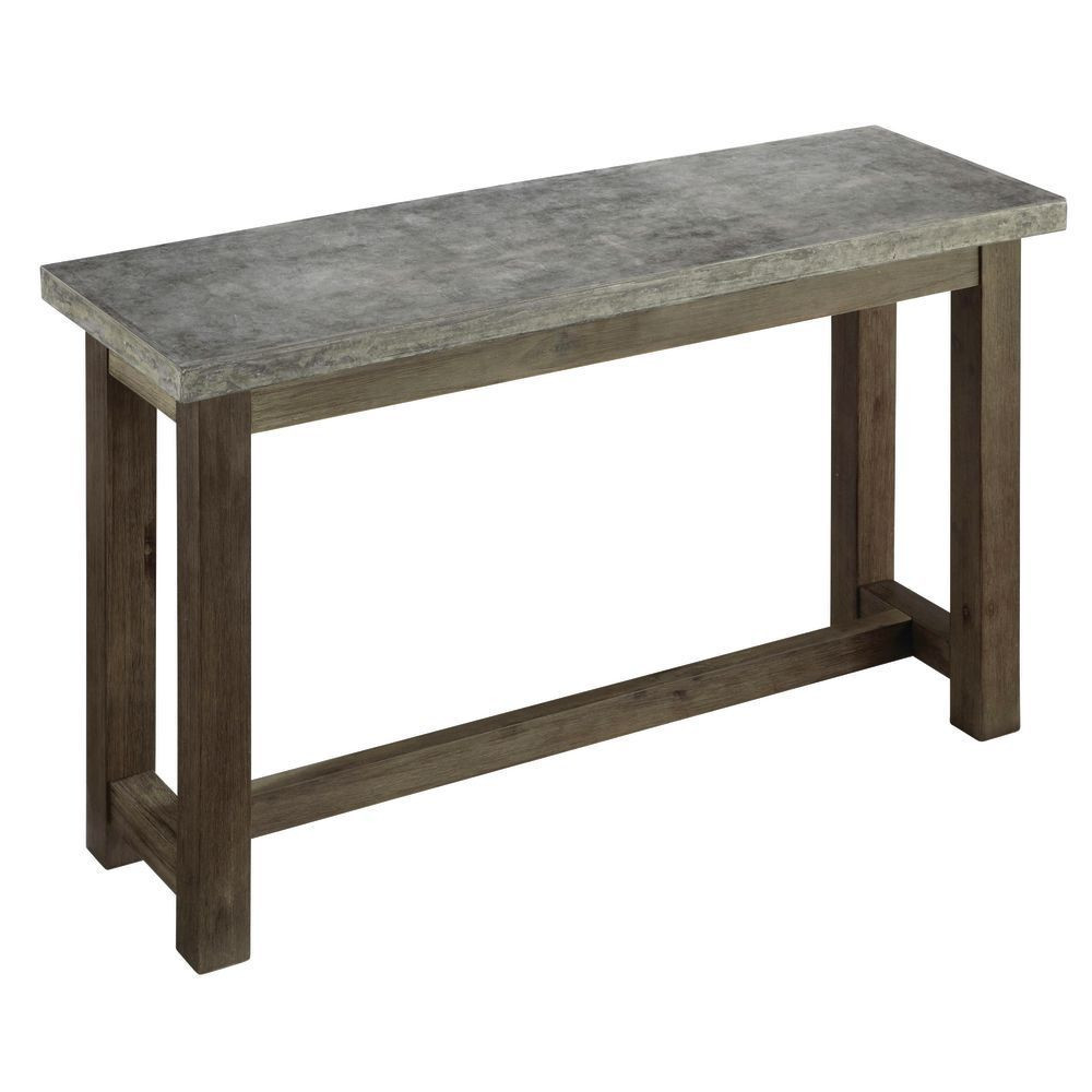 48 Long X16 Deep Outdoor Console Table Gray Console Table