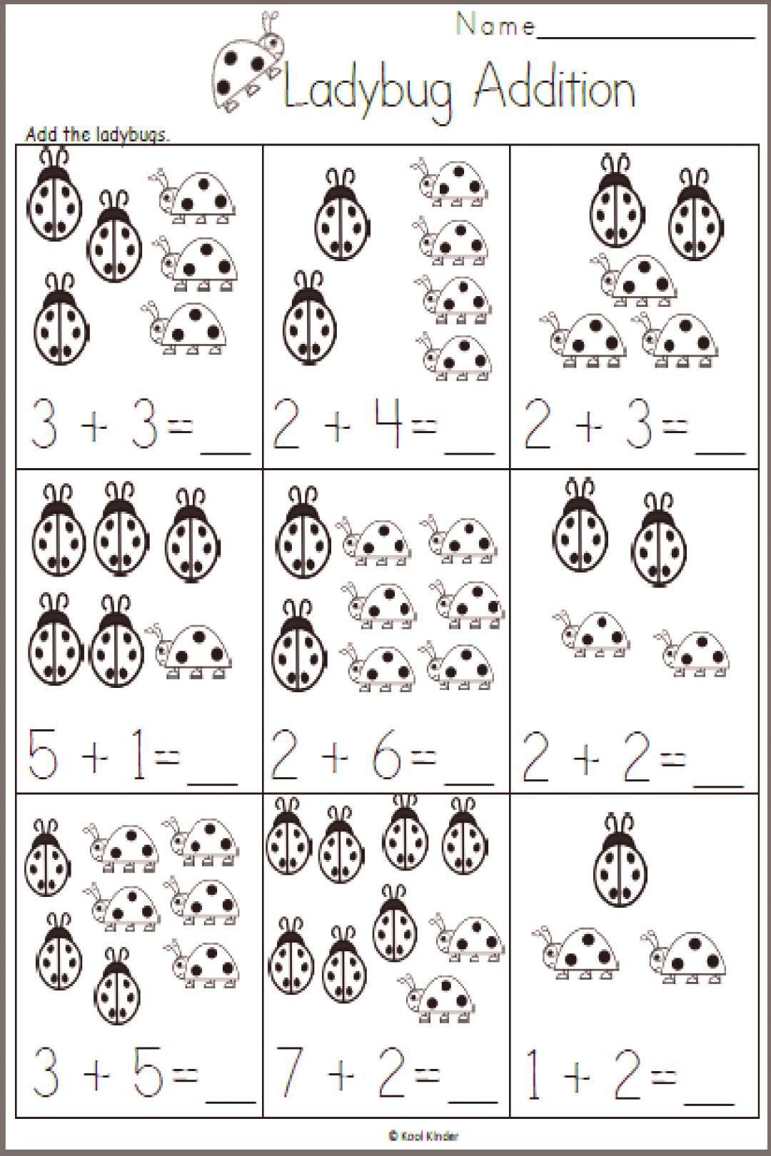 Kindergarten Free Spring Addition Worksheet For Kinde