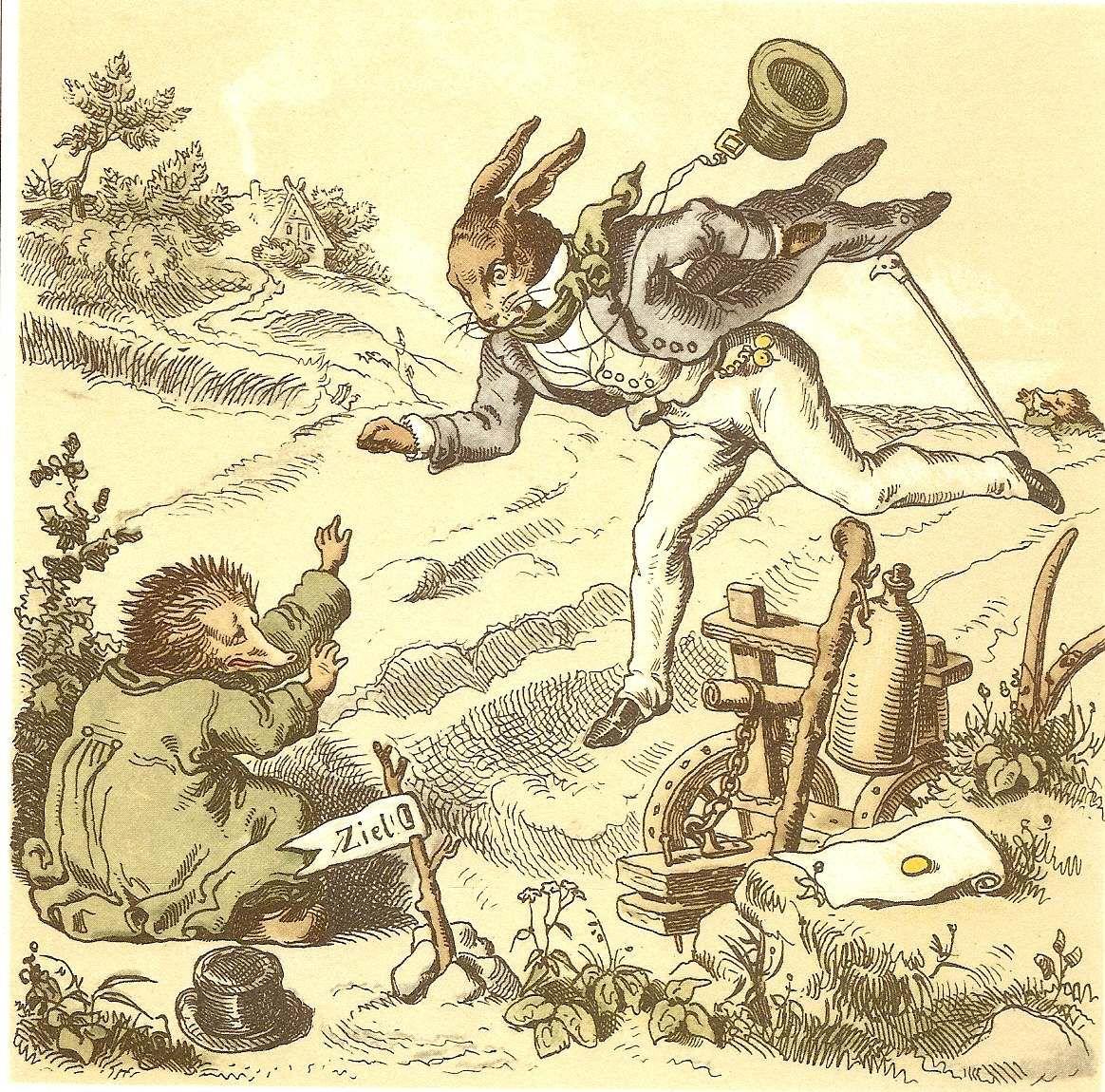 der hase und der igel'  'the hare and the hedgehog'