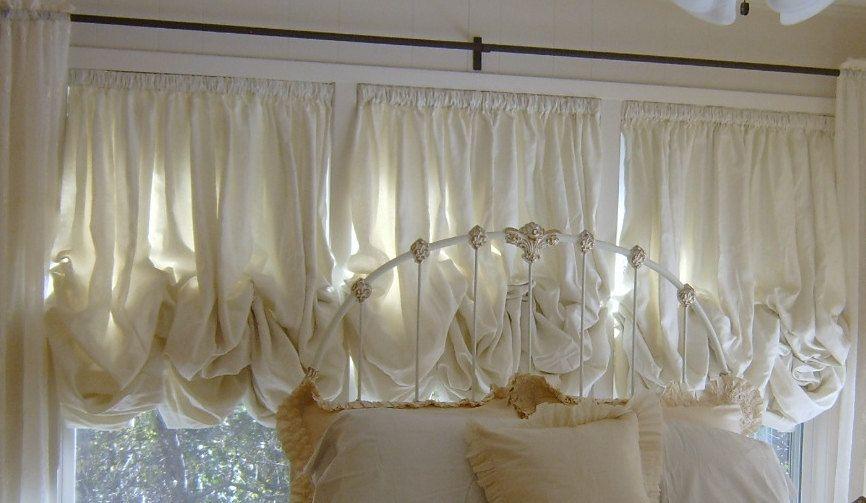 Sewcrazybrand Shabby Chic Balloon Shades 259 00 Via Etsy Balloon Shades Balloon Curtains Shabby Chic Window Treatments
