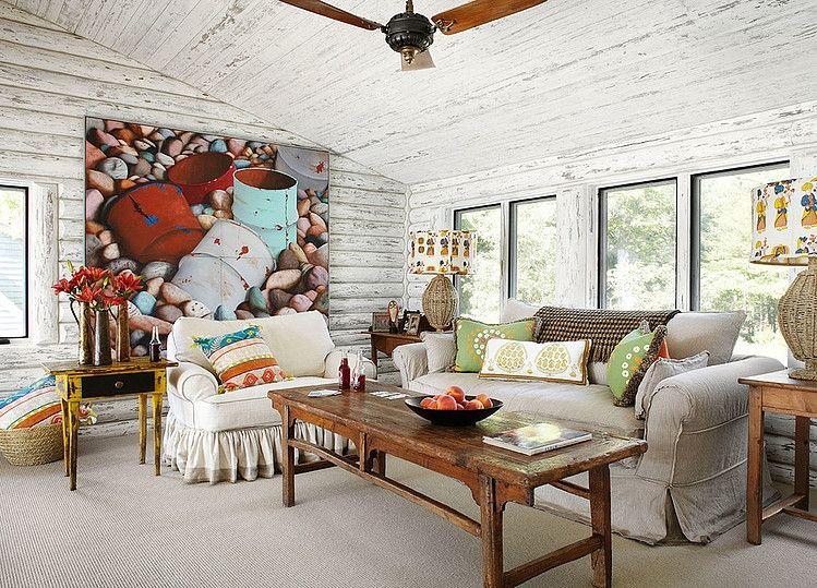 lake cabin interior. whitewashed lake cabin by jessica jubelirer design interior e
