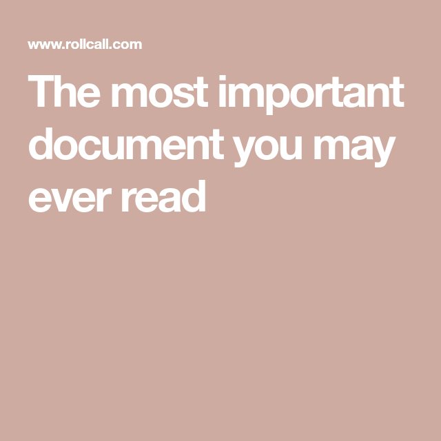 The most important document you may ever read #importantdocuments The most important document you may ever read #importantdocuments