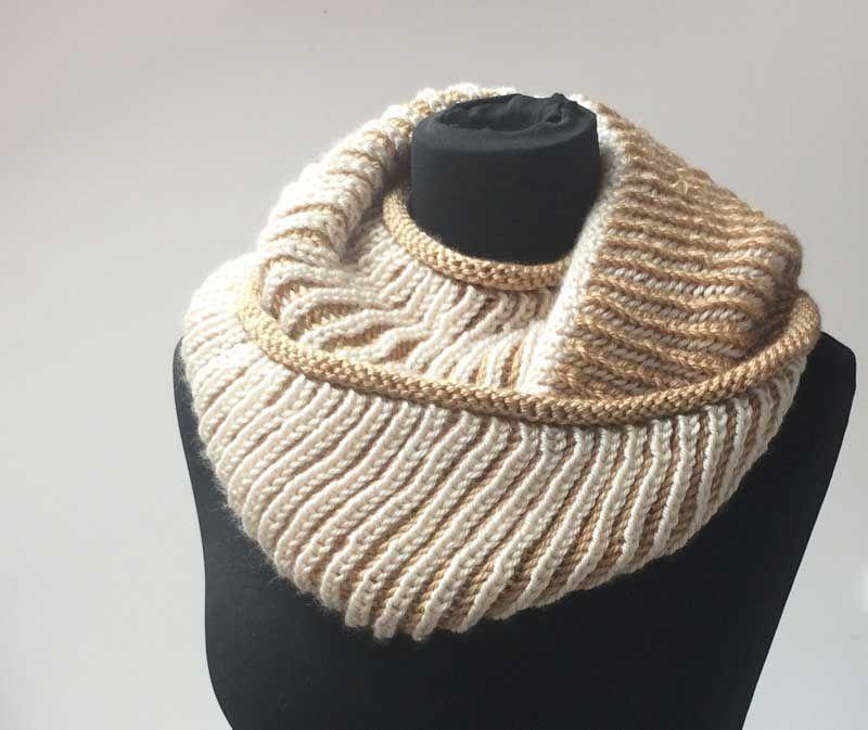 Návod na pletený nákrčník   Handmade knitted womens cowl pattern 1ca17f8143