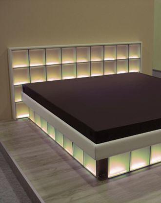 bett von mit licht und glas vip home pinterest bett wasserbett und glas. Black Bedroom Furniture Sets. Home Design Ideas