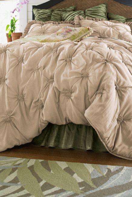 Lombardi Smocked Coverlet - Smocked, Rosette Design | Soft Surroundings