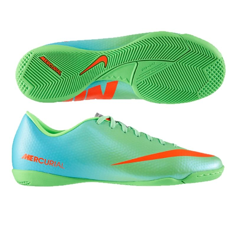 Nike Mercurial Victory IV Indoor Soccer Shoes (Neo Lime/Metallic ...