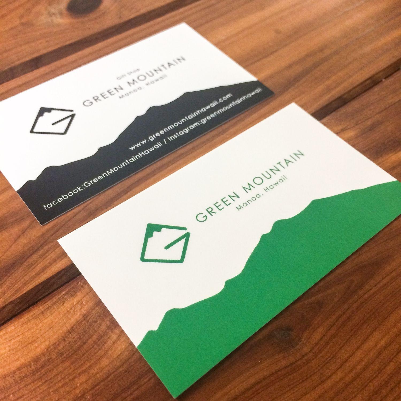 Business Card Design Green Mountain, Hawaii | ART/DESIGN | Pinterest ...