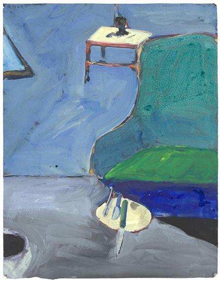 Richard Diebenkorn Interior Green With Chair Richard Diebenkorn