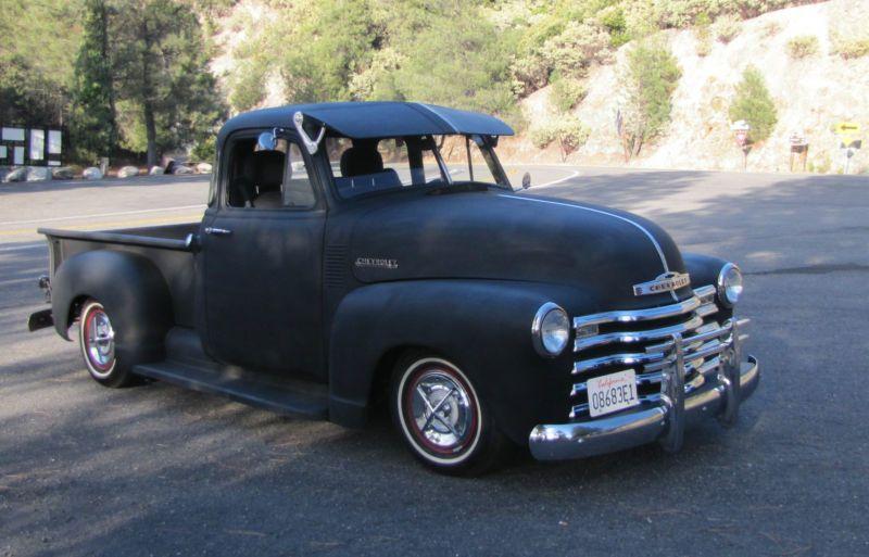 1953 Chevrolet Pickup Old School Cool Rat Rod Truck Flack Black N