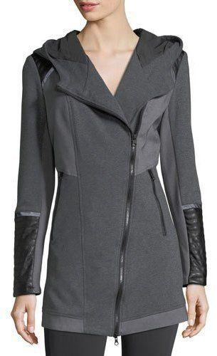 Blanc Noir Update Traveler Zip-Front Long Jacket 89da79101909