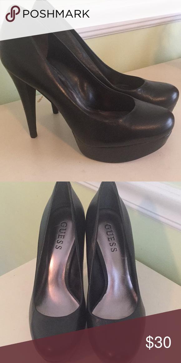guess shoes black heels