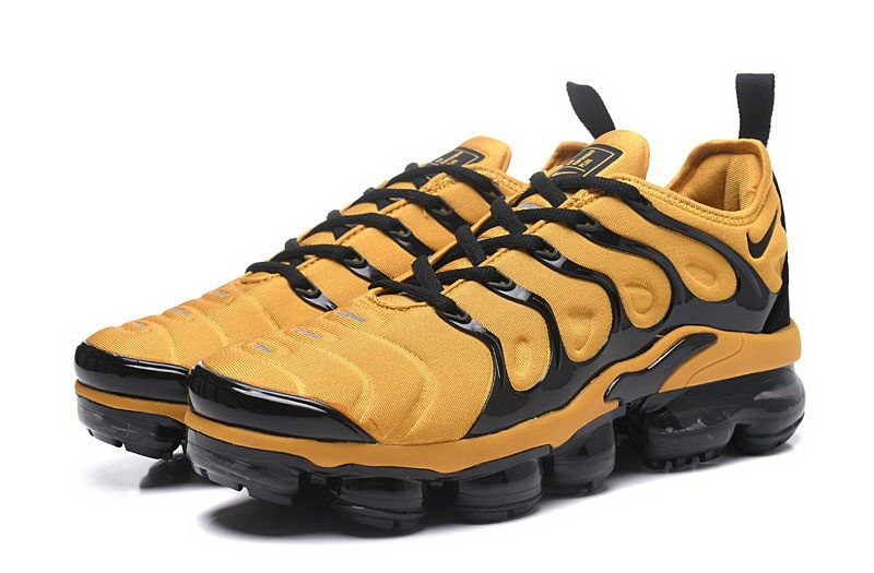 finest selection 2bb5a 80f02 Nike Air Vapormax Plus Black Yellow Running Shoes