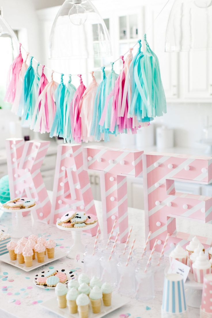 Kate 39 s cotton candy party candy party birthdays and for 13th birthday decoration ideas