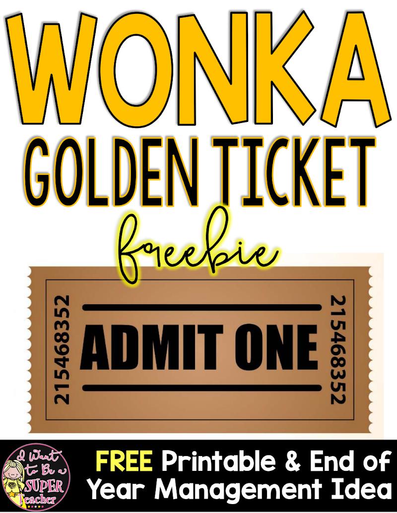Wonka Week Google Drive Wonka Week Teaching Admit One