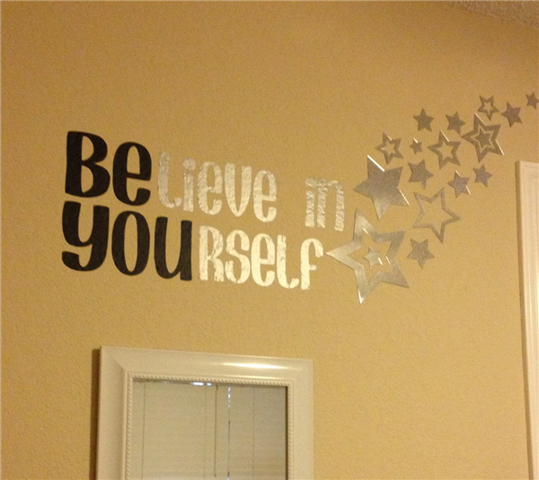 Cricut Vinyl Projects | in yourself vinyl wall art design by ...
