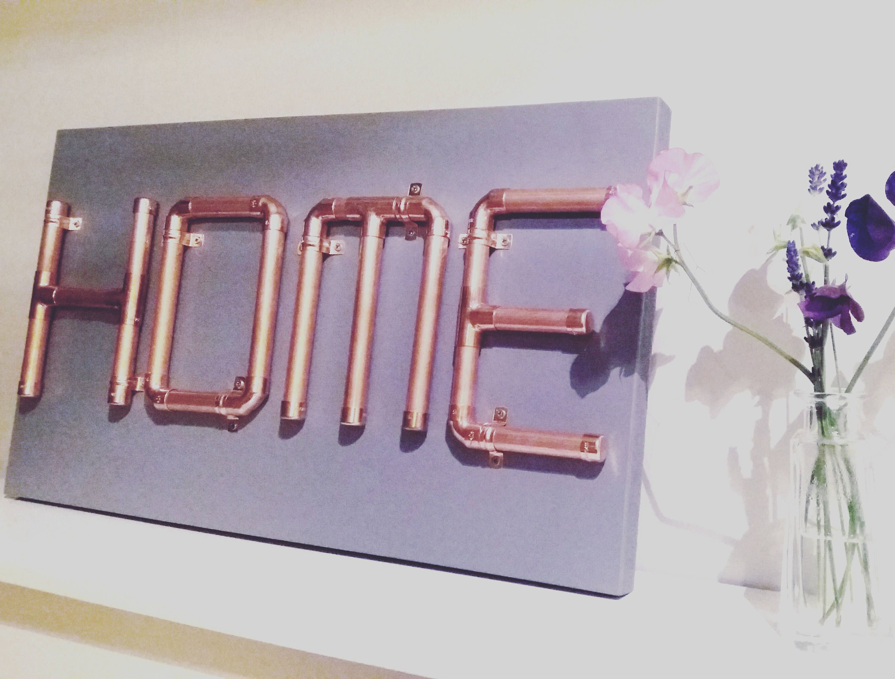 Copper Pipe Letters Home Sign By Snugandstyle On Etsy Copper  # Muebles Lira Gold