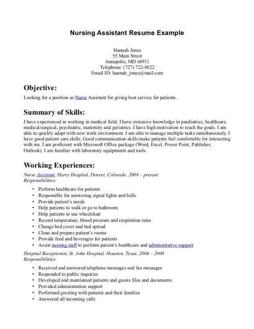 cna resume sample entry level resume pinterest resume