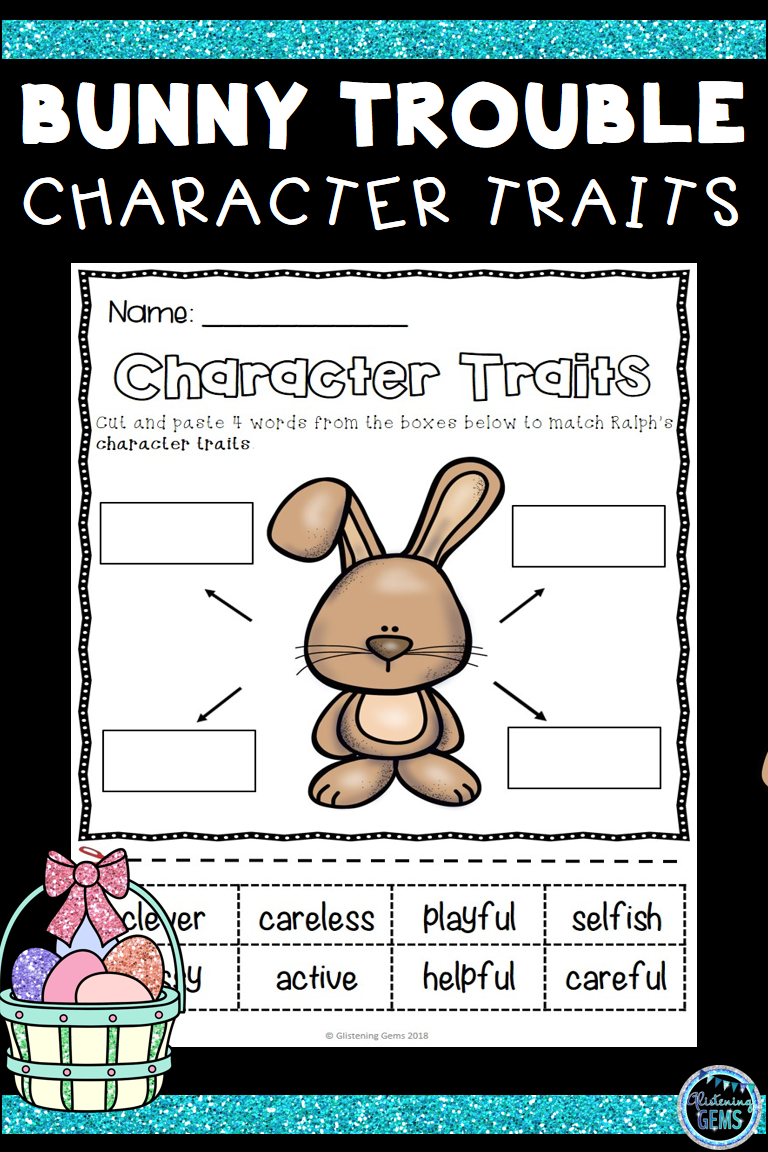 Engage Your Students With These Fun And Interactive Bunny Trouble Character Traits Ac Character Trait Worksheets Writing Activities Character Traits Activities [ 1152 x 768 Pixel ]